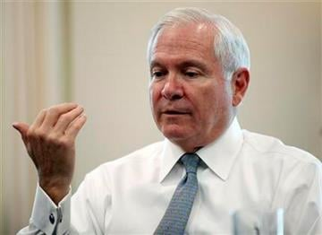 Secretary of Defense Robert Gates, speaks during an interview with The Associate Press in his office at the Pentagon Monday, June 13, 2011 in Washington.(AP Photo/Alex Brandon) By Alex Brandon