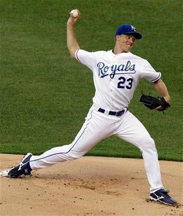 Kansas City Royals starting pitcher Zack Greinke throws during the first inning of a baseball game against the St. Louis Cardinals, Friday, June 25, 2010, in Kansas City, Mo. (AP Photo/Charlie Riedel) By Charlie Riedel
