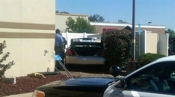 Car accident at the St. Charles Fazolli's. By Bryce Moore