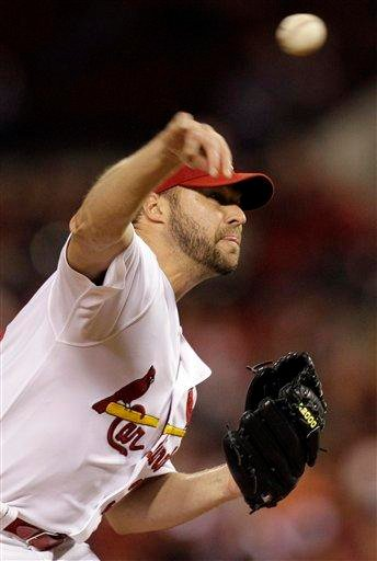 St. Louis Cardinals starting pitcher Jake Westbrook throws during the sixth inning of a baseball game against the Colorado Rockies Friday, Oct. 1, 2010, in St. Louis. (AP Photo/Jeff Roberson) By Jeff Roberson