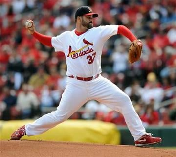St. Louis Cardinals starting pitcher Jeff Suppan throws against the Colorado Rockies in the first inning in a baseball game Sunday Oct. 3, 2010, in St. Louis. (AP Photo/Bill Boyce) By Bill Boyce