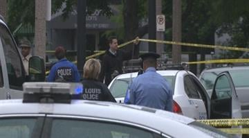 Police are searching for a suspect who stabbed a man to death outside the downtown St. Louis Public Library on Wednesday. By Brendan Marks
