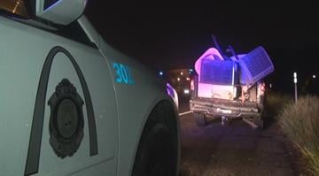Two suspects are in custody after police found several stolen air conditioning units in the bed of their pickup truck in south St. Louis early Thursday morning. By Brendan Marks