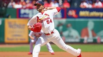 ST. LOUIS, MO - MAY 18: Starter Jaime Garcia #54 of the St. Louis Cardinals pitches against the Atlanta Braves at Busch Stadium on May 18, 2014 in St. Louis, Missouri.  (Photo by Dilip Vishwanat/Getty Images) By Dilip Vishwanat