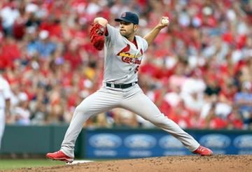 CINCINNATI, OH - MAY 24:  Jaime Garcia #54 of the St. Louis Cardinals throws a pitch during game against the Cincinnati Reds at Great American Ball Park on May 24, 2014 in Cincinnati, Ohio.  (Photo by Andy Lyons/Getty Images) By Andy Lyons