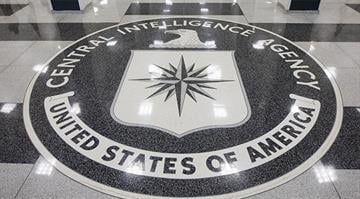 File photos of the Central Intelligence Agency logo in Langley, Va. By Brendan Marks