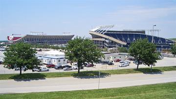 Truman Sports Complex, photo via Wikimedia Commons. By Charvex