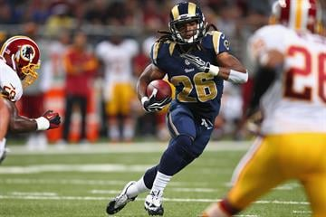 ST. LOUIS, MO - SEPTEMBER 16: Daryl Richardson #26 of the St. Louis Rams rushes against the Washington Redskins at the Edward Jones Dome on September 16, 2012 in St. Louis, Missouri.  (Photo by Dilip Vishwanat/Getty Images) By Dilip Vishwanat