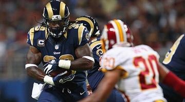 ST. LOUIS, MO - SEPTEMBER 16: Steven Jackson #39 of the St. Louis Rams rushes against the Washington Redskins t the Edward Jones Dome on September 16, 2012 in St. Louis, Missouri. (Photo by Dilip Vishwanat/Getty Images) By KMOV Web Producer