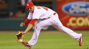 ST. LOUIS, MO - JUNE 22: Pete Kozma #47 of the St. Louis Cardinals fields a double play against the Philadelphia Phillies at Busch Stadium on June 22, 2011 in St. Louis, Missouri. (Photo by Dilip Vishwanat/Getty Images) By KMOV Web Producer