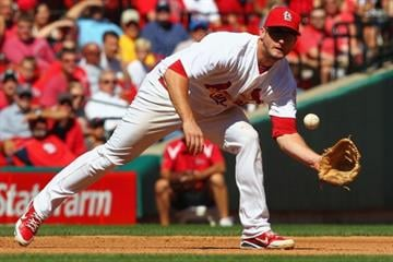 ST. LOUIS, MO - SEPTEMBER 20: David Freese #23 of the St. Louis Cardinals fields a one hopper against the Houston Astros at Busch Stadium on September 20, 2012 in St. Louis, Missouri.  (Photo by Dilip Vishwanat/Getty Images) By Dilip Vishwanat