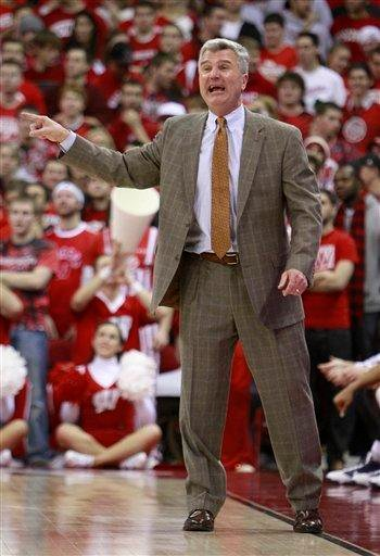 Illinois coach Bruce Weber directs his team from the sidelines during the second half of Illinois' 63-56 win over Wisconsin in an NCAA college basketball game Tuesday, Feb. 9, 2010, in Madison, Wis. (AP Photo/Andy Manis) By Andy Manis