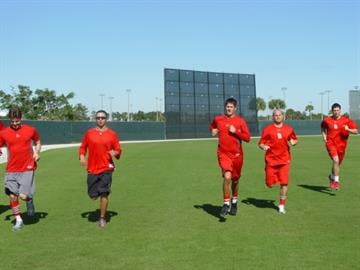 Jupiter, Fla (KMOV) - After Tuesday morning's mound sessions, all pitchers who arrived early run sprints. By Brendan Marks