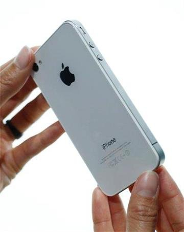 A close up of the new Apple iPhone 4 shown at the Apple Worldwide Developers Conference, Monday, June 7, 2010, in San Francisco. (AP Photo/Paul Sakuma) By Paul Sakuma