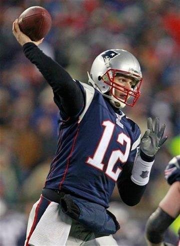 New England Patriots quarterback Tom Brady throws a pass against the New York Jets during the second half of an NFL divisional playoff football game in Foxborough, Mass., Sunday, Jan. 16, 2011. (AP Photo/Michael Dwyer) By Michael Dwyer