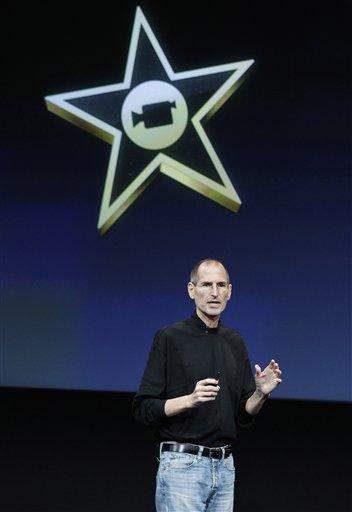 Apple CEO Steve Jobs talks about the new Apple iMovie at Apple headquarters in Cupertino, Calif., Wednesday, Oct. 20, 2010. (AP Photo/Tony Avelar) By Tony Avelar