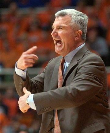 Illinois coach Bruce Weber looks for a call during the second half of an NCAA college basketball game against Michigan State on Tuesday, Jan. 18, 2011, in Champaign, Ill. Illinois won 71-62. (AP Photo/Robert K. O'Daniell) By Robert K. O'Daniell