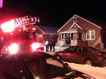This photo shows the scene of a house fire in the 3900 block of Alexander in south St. Louis on Thursday, January 20, 2010. By KMOV Web Producer