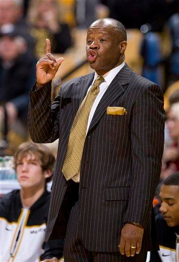 Missouri head coach Mike Anderson encourages his team during the first half of an NCAA college basketball game against Iowa State, Saturday, Jan. 22, 2011, in Columbia. Mo. Missouri won the game 87-54. (AP Photo/L.G. Patterson) By L.G. Patterson