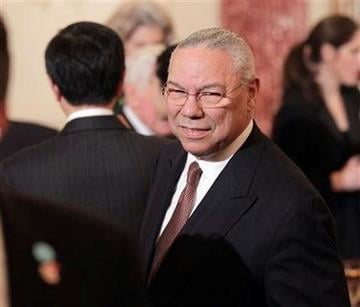 Former Secretary of State Colin Powell arrives for the luncheon for China's President Hu Jintao, Wednesday, Jan. 19, 2011, at the State Department in Washington. (AP Photo/Pablo Martinez Monsivais) By Pablo Martinez Monsivais