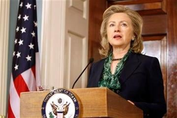 Secretary of State Hillary Rodham Clinton makes a statement regarding the death of Osama bin Laden, Monday, May 2, 2011, at the State Department in Washington. (AP Photo/Jacquelyn Martin) By Jacquelyn Martin
