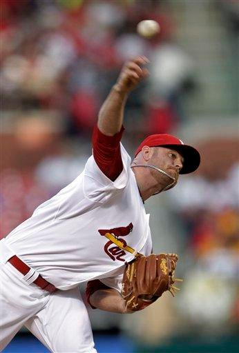 St. Louis Cardinals starting pitcher Kyle McClellan throws in the first inning of a baseball game against the Florida Marlins, Tuesday, May 3, 2011, in St. Louis.(AP Photo/Tom Gannam) By Tom Gannam