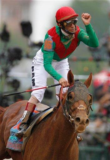John Velazquez rides Animal Kingdom to victory during the 137th Kentucky Derby horse race at Churchill Downs Saturday, May 7, 2011, in Louisville, Ky. (AP Photo/Darron Cummings) By Darron Cummings