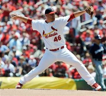 St. Louis Cardinals starting pitcher Kyle McClellan throws against the Milwaukee Brewers in the first inning in a baseball game Sunday, May 8, 2011, in St. Louis. (AP Photo/Bill Boyce) By Bill Boyce