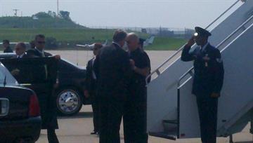 Vice President Joe Biden lands in St. Louis By KMOV Web Producer