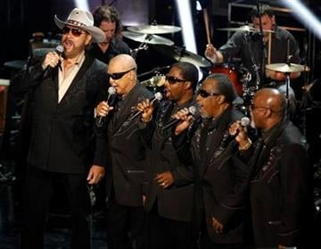 Hank Williams Jr. performs  with the Blind Boys of Alabama during the CMT Disaster Relief Concert Thursday, May 12, 2011 in Nashville, Tenn.  Proceeds from the concert will help victims of recent tornadoes. (AP Photo/Wade Payne) By Wade Payne