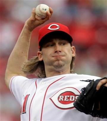 Cincinnati Reds starting pitcher Bronson Arroyo throws against the St. Louis Cardinals in the first inning of a baseball game, Friday, May 13, 2011, in Cincinnati. (AP Photo/Al Behrman) By Al Behrman
