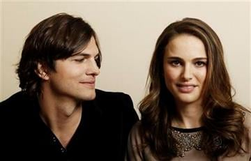 """In this Jan. 7, 2011 photo, actor Ashton Kutcher, left, and actress Natalie Portman, from the film """"No Strings Attached"""" pose for a portrait in Beverly Hills, Calif..  (AP Photo/Matt Sayles) By Matt Sayles"""