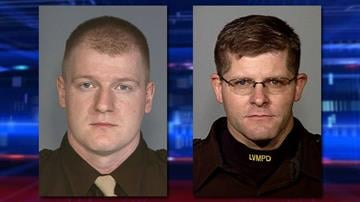 The Las Vegas Metropolitan Police Department identified the officers killed in an ambush-style shooting at a restaurant as Officer Igor Soldo, 32, left, and Officer Alyn Beck, 42, right. (Source: LVMPD) By Brendan Marks