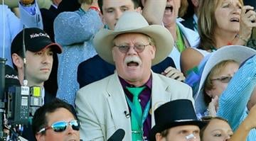 ELMONT, NY - JUNE 07:  Steve Coburn, co-owner of California Chrome reacts while watching the 146th running of the Belmont Stakes at Belmont Park on June 7, 2014 in Elmont, New York.  (Photo by Rob Carr/Getty Images) By Brendan Marks