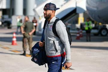 SAO PAULO, BRAZIL - JUNE 09:  Goalkeeper Tim Howard of the United States arrives at Sao Paulo International Airport on June 9, 2014 in Sao Paulo, Brazil.  (Photo by Kevin C. Cox/Getty Images) By Kevin C. Cox