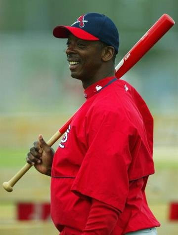JUPITER, FL - MARCH 1:  St. Louis Cardinals instructor Willie McGee in action during the  St. Louis Cardinals Training Camp on March 1, 2004 at Roger Dean Stadium in Jupiter, Florida.  (Photo by Robert Laberge/Getty Images) By Robert Laberge
