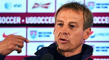 USA's German coach Juergen Klinsmann answers a question during a press conference before his team training session in Sao Paulo on June 11, 2014, ahead of the 2014 FIFA World Cup in Brazil. AFP PHOTO/Jewel Samad By JEWEL SAMAD