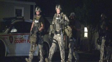 A man is in the hospital after being involved in a four-hour standoff with the St. Louis County SWAT Team in Affton. The incident happened in the 7900 block of Elton. By Brendan Marks