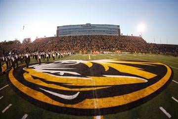 COLUMBIA, MO - NOVEMBER 2: Fans look on during introductions before the Missouri Tigers take on the Tennessee Volunteers on November 2, 2013 at Faurot Field/Memorial Stadium in Columbia, Missouri. (Photo by Kyle Rivas/Getty Images) By Kyle Rivas