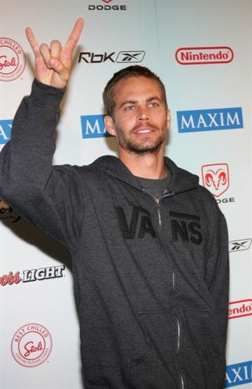 """JACKSONVILLE, FL - FEBRUARY 5:  Actor Paul Walker attends """"Maximony"""" Maxim's 2005 Super Bowl Party on February 5, 2005 in Jacksonville, Florida.  (Photo by Evan Agostini/Getty Images) By Evan Agostini"""