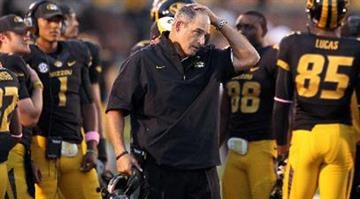 The stressed look on Gary Pinkel's face was a theme in 2012, in 2013 its been the complete opposite By Dan Mueller