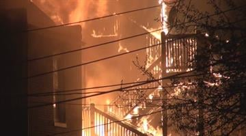 Officials say fire crews responded to the 5000 block of Vernon near Kingshighway around 1:30 a.m. and found heavy flames shooting from the second floor of a home. The flames then moved to both neighboring homes. By Brendan Marks