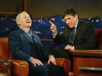 """LOS ANGELES - FEBRUARY 7:  Actor Neal McDonough (L) appears on the """"Late Late Show"""" With Craig Fergusonat CBS Television City on February 7, 2005 in Los Angeles, California. (Photo by Kevin Winter/Getty Images) By Kevin Winter"""