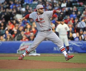 CHICAGO, IL - MAY 04: Lance Lynn #31 of the St. Louis Cardinals pitches against the Chicago Cubs during the first inning on May 4, 2014 at Wrigley Field in Chicago, Illinois. (Photo by David Banks/Getty Images) By David Banks
