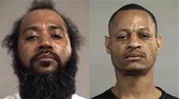 Darelle Simmons, 37, and Dwight Brown, 44, face charges after they were found passed out in a Louisville police parking lot after the Kentucky Derby early Sunday morning. By Brendan Marks