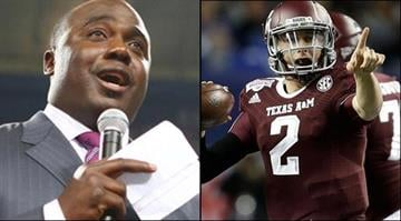 Marshall Faulk says the Rams need Johnny Manziel. The Hall of Fame running back took part in a mock draft for NFL.com and made Manziel the Rams pick with the second overall choice. By Brendan Marks