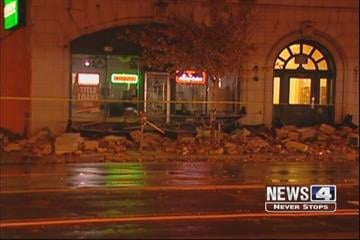 "Damage at the ""P"" Building after a storm on October 26, 2010 By Lakisha Jackson"
