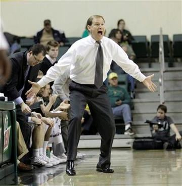 Oregon head coach Dana Altman shouts to his team in the second half during their NCAA college basketball game with Missouri Thursday, Dec. 2, 2010, in Eugene, Ore. Missouri defeated Oregon 83-80. (AP Photo/Rick Bowmer) By Rick Bowmer