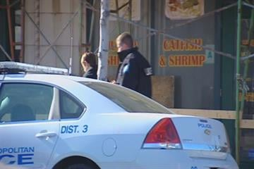 St. Louis police surrounded an armored car at 3655 South Grand Avenue after an incident Monday afternoon.