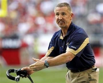 St. Louis Rams head coach Steve Spagnuolo argues with officials during the second quarter of an NFL football game against the Arizona Cardinals, Sunday, Dec. 5, 2010, in Glendale, Ariz. (AP Photo/Ross D. Franklin) By Ross D. Franklin